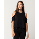 FREE PEOPLE Taurus Womens Cold Shoulder Top
