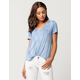 FULL TILT Essential Shoulder Cutout Womens Tee