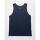 BLUE CROWN Solid Drop Tail Mens Tank