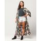 ANGIE Floral Womens Maxi Kimono