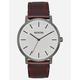NIXON Porter Leather Gunmetal & Brown Watch