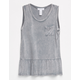 FULL TILT Mineral Wash Girls Babydoll Tank