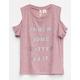 SKY AND SPARROW Glitter Girls Cold Shoulder Top