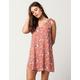 IVY & MAIN Floral Shoulder Tie Dress