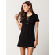 SKY AND SPARROW Grommet Lace Up Dress