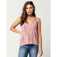 IVY & MAIN Washed Scallop Womens Cami