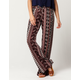 SKY AND SPARROW Linear Paisley Womens Wide Leg Pants