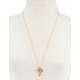 FULL TILT Rhinestone Leaf Necklace