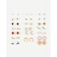 FULL TILT 20 Pairs Horseshoe/Moon/Gem Earrings