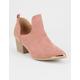 QUPID Gold Toe Womens Cutout Boots