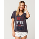 WHITE FAWN Red Wine And Brews Womens Tee