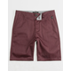 NITROUS BLACK Ransom Boys Slim Chino Shorts
