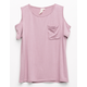 SKY AND SPARROW Girls Cold Shoulder Tee