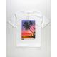 ASPHALT YACHT CLUB Vertical Stripe Palm Boys T-Shirt
