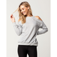 SOCIALITE Distressed Womens Cold Shoulder Sweatshirt
