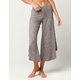 BEBOP Marled Knit Womens Culotte Pants