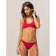ROXY Strappy Love Crimson Cheeky Bikini Bottoms