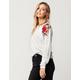 SOCIALITE Rose Patch Womens Nubby Sweatshirt