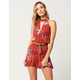 SOCIALITE Floral Keyhole Womens Romper