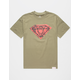 DIAMOND SUPPLY CO. Rose Photo Rock Mens T-Shirt