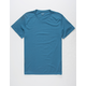 BLUE CROWN Solid Mens T-Shirt