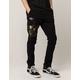 NITROUS BLACK Camo Patch Mens Jogger Pants