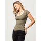 BOZZOLO Y-Neck Womens Tee