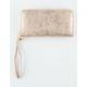 Metallic Double Zip Wallet