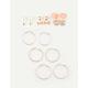 FULL TILT 9 Pack Shine Hoop Earrings