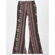 FULL TILT Vertical Rose Girls Flare Pants