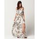 HONEY BELLE Floral Cold Shoulder Top And Maxi Skirt Set