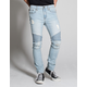 RSQ Seattle Moto Mens Skinny Tapered Ripped Jeans