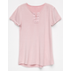IVY & MAIN Lace Up Girls Tee