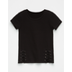 WHITE FAWN Side Lace Up Girls Tee
