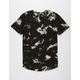ELWOOD Bleach Wash Mens T-Shirt