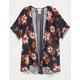 FULL TILT Floral Mesh Girls Kimono