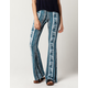 PATRONS OF PEACE Floral Dye Womens Flare Pants