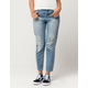 IVY & MAIN High Waisted Womens Ripped Mom Jeans