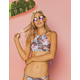DAMSEL Floral High Neck Criss Cross Bikini Top