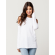WHITE FAWN Cold Shoulder Womens Sweatshirt