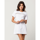 WHITE FAWN Lace Up Grommet Dress