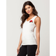 POLLY & ESTHER Rose Patch Womens Tank
