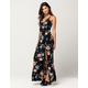 BOG Collective Floral Surplice Maxi Dress