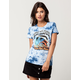 PINK DOLPHIN Wave Fire Womens Tee