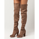 WILD DIVA Peep Toe Womens Over The Knee Boots