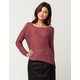 SKY AND SPARROW Cold Shoulder Womens Sweater