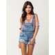 ALMOST FAMOUS Fray Womens Shortall Overalls