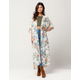 IVY & MAIN Floral Womens Maxi Kimono