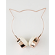 Rose Gold Cat Ear Headphones