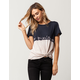 SOCIALITE Dip Dye Distressed Womens Tee